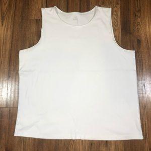💝CJ Banks White Tank Top T-shirt 2X